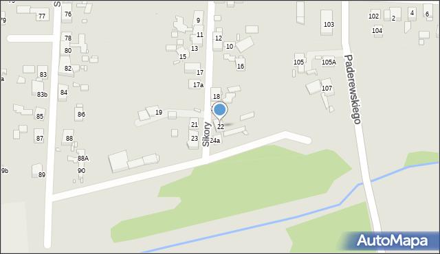 Zabrze, Sikory Jana, 22, mapa Zabrza