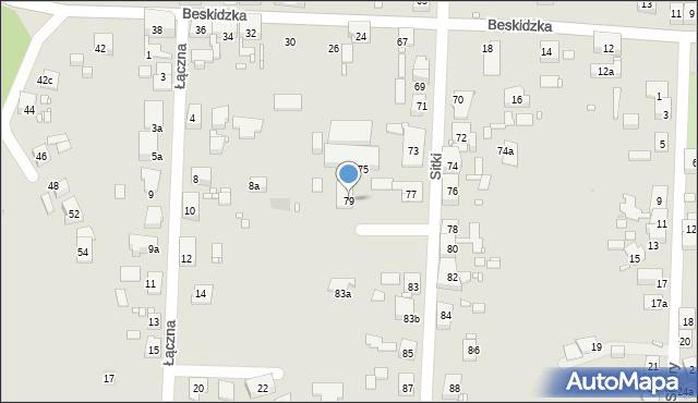 Zabrze, Sitki Konrada, 79, mapa Zabrza