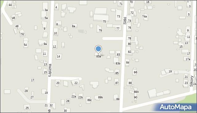 Zabrze, Sitki Konrada, 83a, mapa Zabrza