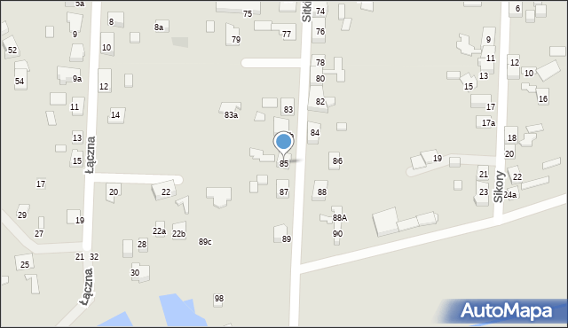 Zabrze, Sitki Konrada, 85, mapa Zabrza