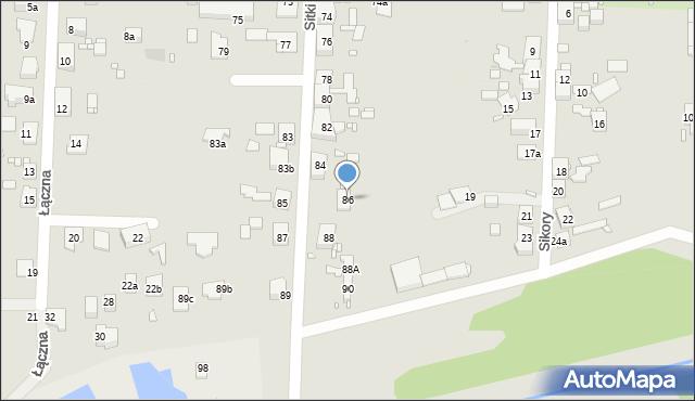 Zabrze, Sitki Konrada, 86, mapa Zabrza