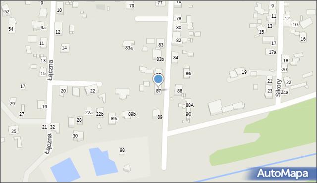 Zabrze, Sitki Konrada, 87, mapa Zabrza
