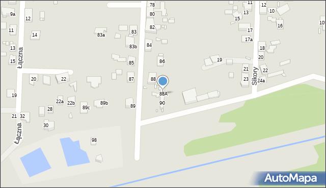Zabrze, Sitki Konrada, 88A, mapa Zabrza