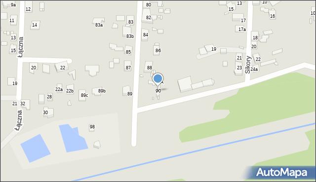Zabrze, Sitki Konrada, 90, mapa Zabrza