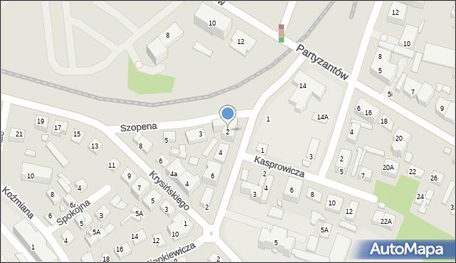 Zamość, Sienkiewicza Henryka, 2, mapa Zamościa