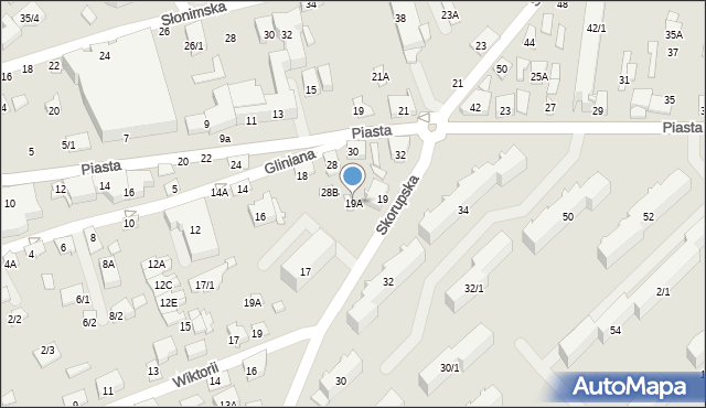 Białystok, Skorupska, 19A, mapa Białegostoku