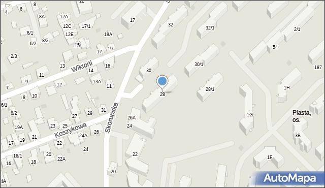 Białystok, Skorupska, 28, mapa Białegostoku