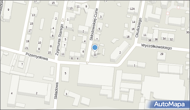 Bytom, Skłodowskiej-Curie Marii, 11, mapa Bytomia