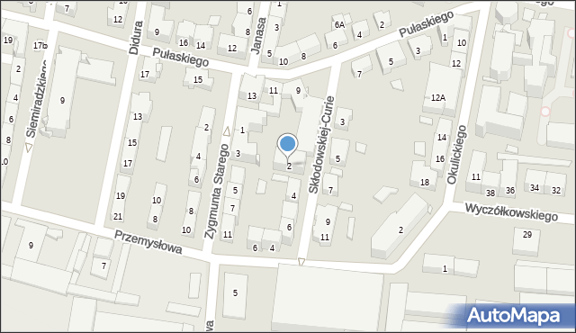 Bytom, Skłodowskiej-Curie Marii, 2, mapa Bytomia