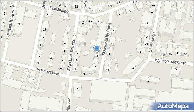 Bytom, Skłodowskiej-Curie Marii, 4, mapa Bytomia