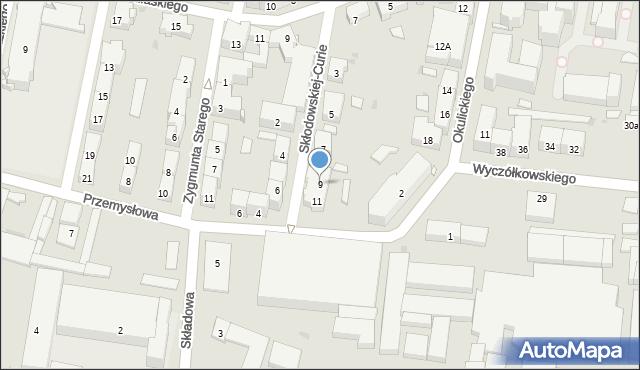 Bytom, Skłodowskiej-Curie Marii, 9, mapa Bytomia