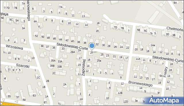 Chełm, Skłodowskiej-Curie Marii, 27, mapa Chełma