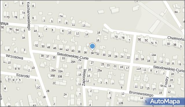 Chełm, Skłodowskiej-Curie Marii, 34, mapa Chełma