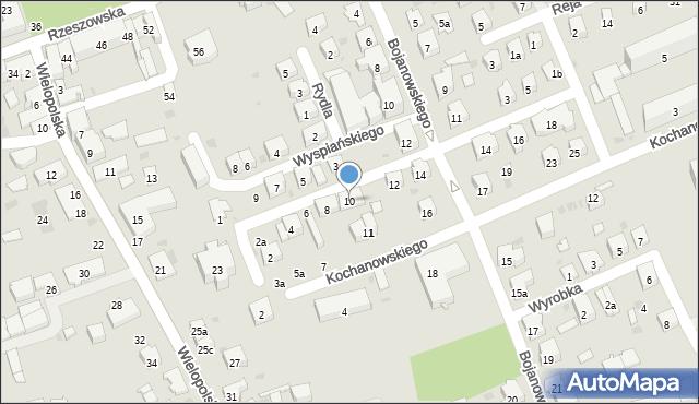 Dębica, Skłodowskiej-Curie Marii, 10, mapa Dębicy