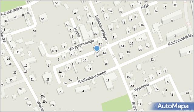 Dębica, Skłodowskiej-Curie Marii, 12, mapa Dębicy