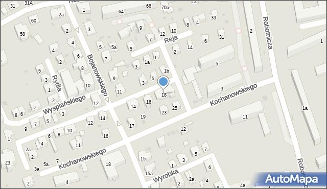 Dębica, Skłodowskiej-Curie Marii, 18, mapa Dębicy