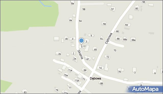 Dobczyce, Skalna, 1, mapa Dobczyce