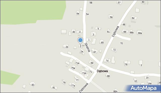 Dobczyce, Skalna, 2, mapa Dobczyce