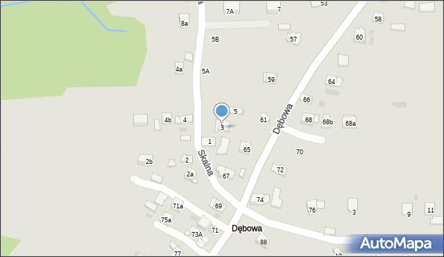 Dobczyce, Skalna, 3, mapa Dobczyce