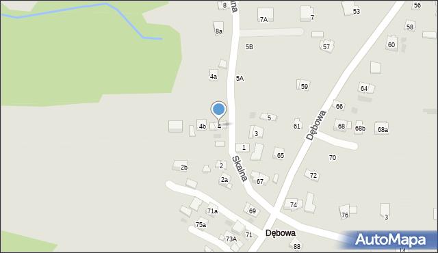 Dobczyce, Skalna, 4, mapa Dobczyce