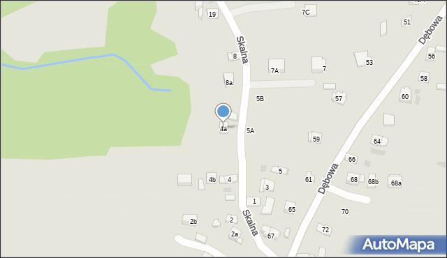 Dobczyce, Skalna, 4a, mapa Dobczyce