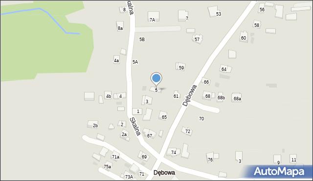 Dobczyce, Skalna, 5, mapa Dobczyce
