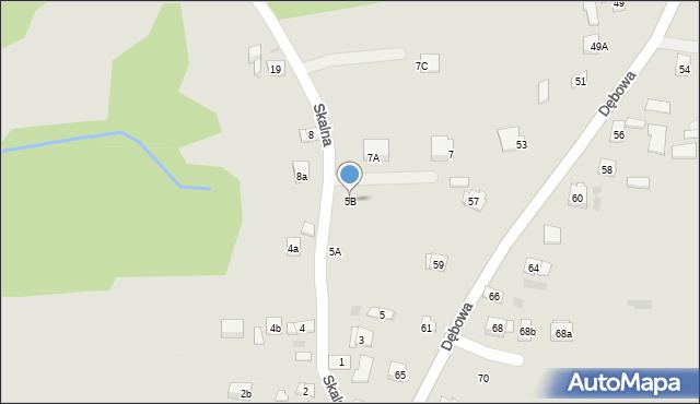 Dobczyce, Skalna, 5B, mapa Dobczyce