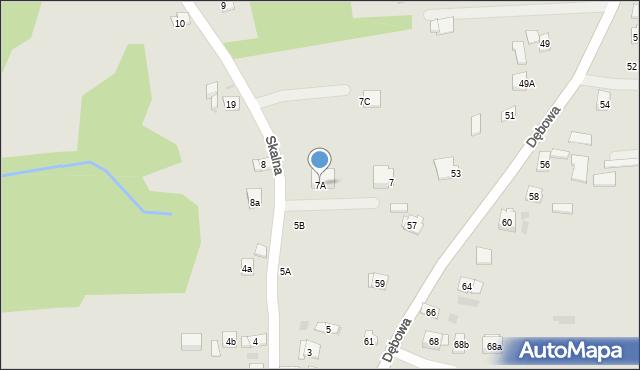 Dobczyce, Skalna, 7A, mapa Dobczyce
