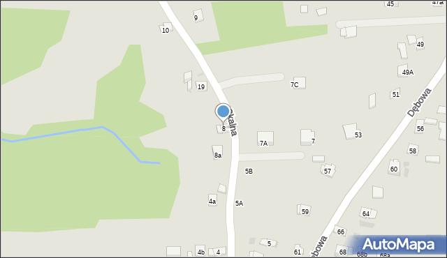 Dobczyce, Skalna, 8, mapa Dobczyce