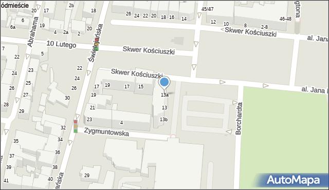 Gdynia, Skwer Kościuszki Tadeusza, gen., 13a, mapa Gdyni