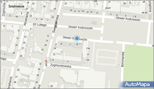 Gdynia, Skwer Kościuszki Tadeusza, gen., 15, mapa Gdyni
