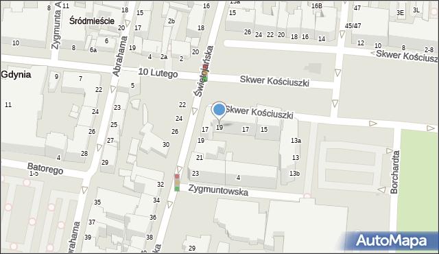 Gdynia, Skwer Kościuszki Tadeusza, gen., 19, mapa Gdyni