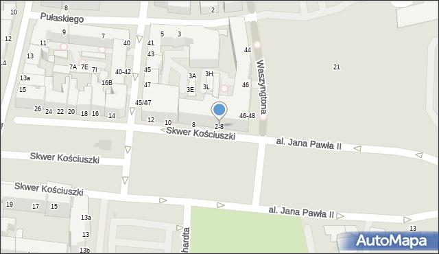 Gdynia, Skwer Kościuszki Tadeusza, gen., 2-8, mapa Gdyni