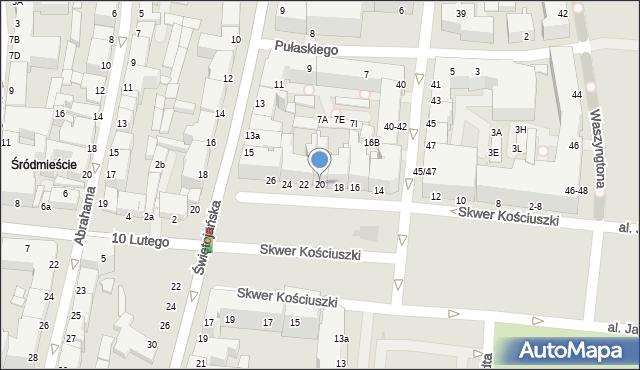 Gdynia, Skwer Kościuszki Tadeusza, gen., 20, mapa Gdyni