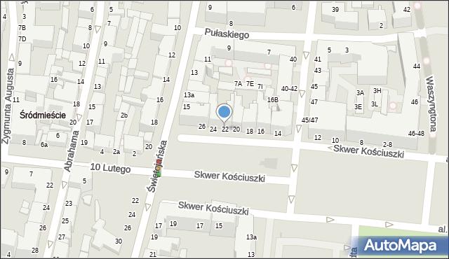 Gdynia, Skwer Kościuszki Tadeusza, gen., 22, mapa Gdyni