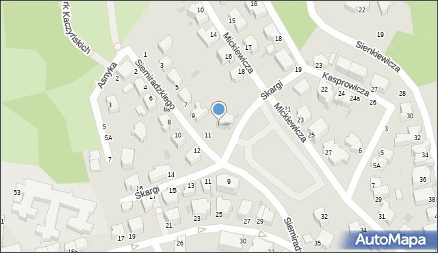 Gdynia, Skargi Piotra, ks., 10, mapa Gdyni
