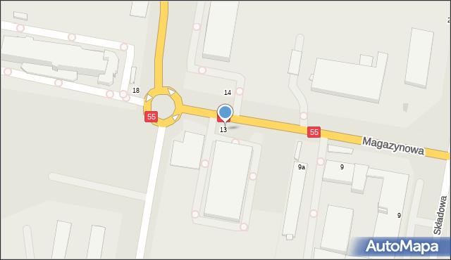 Grudziądz, Składowa, 13, mapa Grudziądza