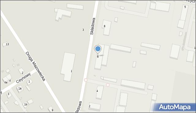 Grudziądz, Składowa, 6, mapa Grudziądza