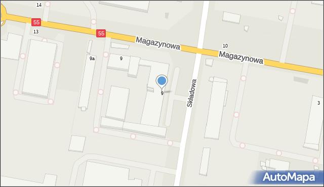 Grudziądz, Składowa, 9, mapa Grudziądza