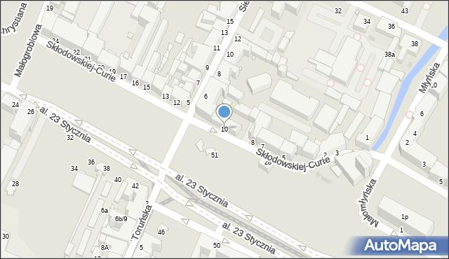 Grudziądz, Skłodowskiej-Curie Marii, 10, mapa Grudziądza