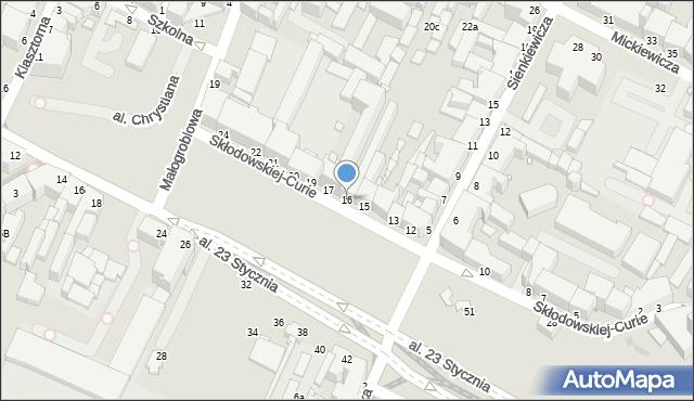 Grudziądz, Skłodowskiej-Curie Marii, 16, mapa Grudziądza