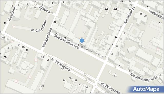 Grudziądz, Skłodowskiej-Curie Marii, 17, mapa Grudziądza