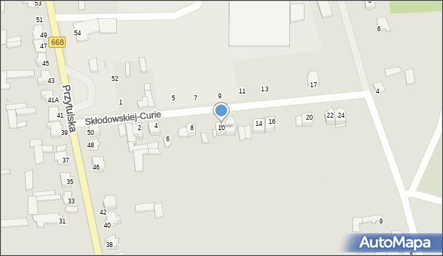 Jedwabne, Skłodowskiej-Curie Marii, 10, mapa Jedwabne