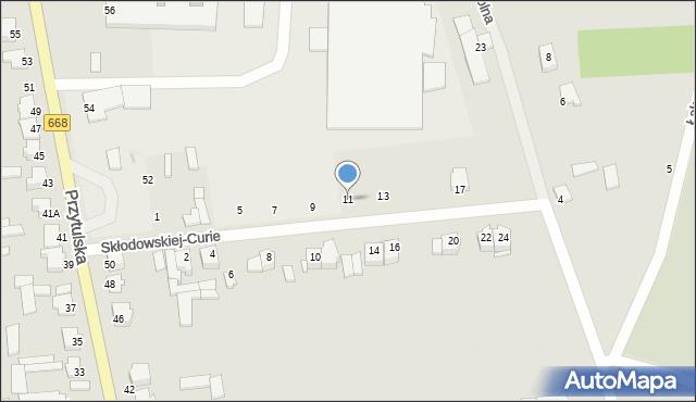 Jedwabne, Skłodowskiej-Curie Marii, 11, mapa Jedwabne