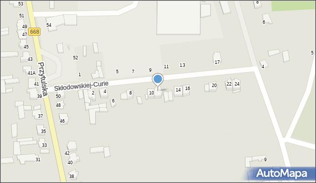 Jedwabne, Skłodowskiej-Curie Marii, 12, mapa Jedwabne