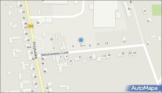 Jedwabne, Skłodowskiej-Curie Marii, 7, mapa Jedwabne