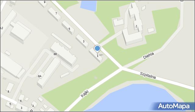 Kętrzyn, Skłodowskiej-Curie Marii, 1, mapa Kętrzyn