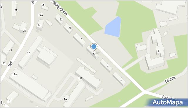 Kętrzyn, Skłodowskiej-Curie Marii, 5, mapa Kętrzyn