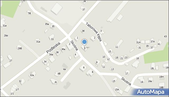 Mikołów, Skośna, 3, mapa Mikołów