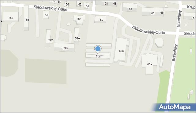 Piekary Śląskie, Skłodowskiej-Curie Marii, 61a, mapa Piekary Śląskie